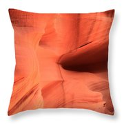 Sandstone  Ledges And Swirls Throw Pillow