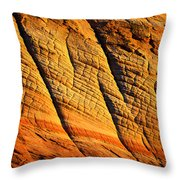 Sandstone Of Time Throw Pillow
