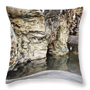 Sandstone Reflections Throw Pillow by Douglas Barnard