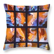 Sandstone Sunsongs Blues Photo Assemblage Throw Pillow