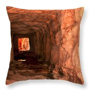 Sandstone Tunnel Throw Pillow