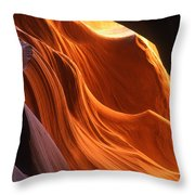 Sandstone Walls Antelope Canyon Arizona Throw Pillow