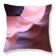 Antelope Canyon Sandstone Waves Throw Pillow