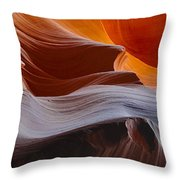 Sandstone Waves Throw Pillow