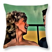 Sandy And Danny Throw Pillow