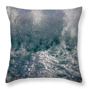 Sandy Beach Backwash Throw Pillow