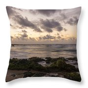 Sandy Beach Sunrise 10 - Oahu Hawaii Throw Pillow