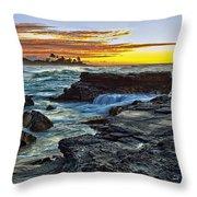 Sandy Beach Sunrise Throw Pillow