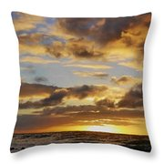 Sandy Beach Sunrise Throw Pillow