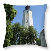 Sandy Hook Lighthouse Throw Pillow