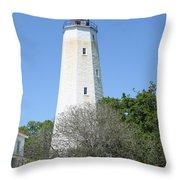 Sandy Hook Lighthouse II Throw Pillow
