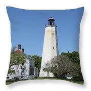 Sandy Hook Lighthouse IIi - N  J Throw Pillow