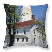 Sandy Hook Lighthouse Iv Throw Pillow