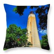 The Sandy Hook Lighthouse Throw Pillow