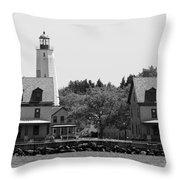 Sandy Hook New Jersey Lighthouse Throw Pillow