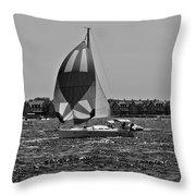 Sandy Hook Sailing II Throw Pillow