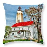 Sandy Hook Spring Throw Pillow