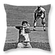 Sandy Koufax Painting Throw Pillow