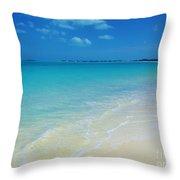 Sandy Shoreline  Throw Pillow