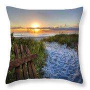Sandy Trail Throw Pillow