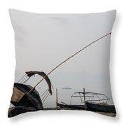 Sangam Boats Throw Pillow
