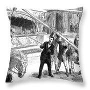 Sanger's Circus, 1884 Throw Pillow