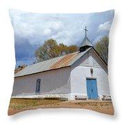 Sangre De Cristo Chapel In Cuartelez In New Mexico Throw Pillow