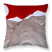Sangre De Cristo Peaks Original Painting Throw Pillow