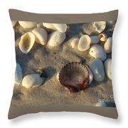 Sanibel Island Shells 5 Throw Pillow