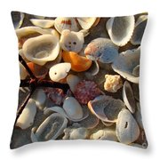 Sanibel Island Shells 6 Throw Pillow