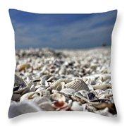 Sanibel Shells Throw Pillow