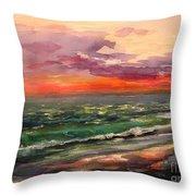 Sanibel Sunset Throw Pillow