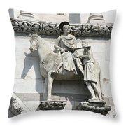 Sankt Martin Statue Lucca Throw Pillow