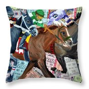 Santa Anita Throw Pillow