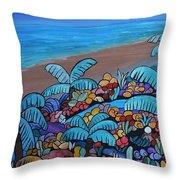 Santa Barbara Beach Throw Pillow by Barbara St Jean