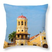 Santa Barbara Church Throw Pillow
