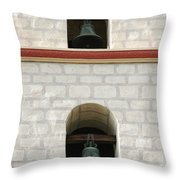 Santa Barbara Mission Bells Throw Pillow