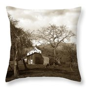 Santa Barbara Mission California Circa 1890 Throw Pillow