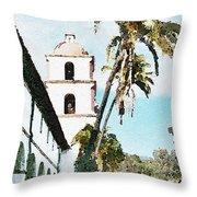 Santa Barbara Palms Throw Pillow
