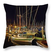 Santa Barbata Harbor Color Throw Pillow