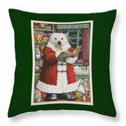 Santa Bear Throw Pillow