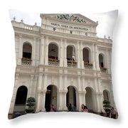 Santa Casa Da Misericordia Throw Pillow