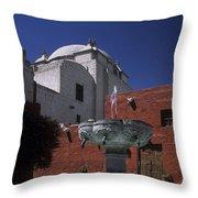 Santa Catalina Convent Throw Pillow