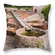 Santa Catalina Monastery Arequipa Peru Throw Pillow