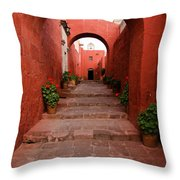 Santa Catalina Monastery In Arequipa Peru Throw Pillow