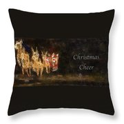 Santa Christmas Cheer Photo Art Throw Pillow