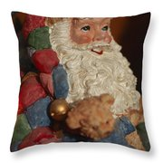 Santa Claus - Antique Ornament - 03 Throw Pillow