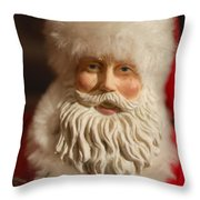 Santa Claus - Antique Ornament - 07 Throw Pillow