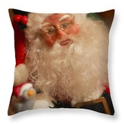 Santa Claus - Antique Ornament - 11 Throw Pillow by Jill Reger