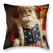 Santa Claus - Antique Ornament - 15 Throw Pillow